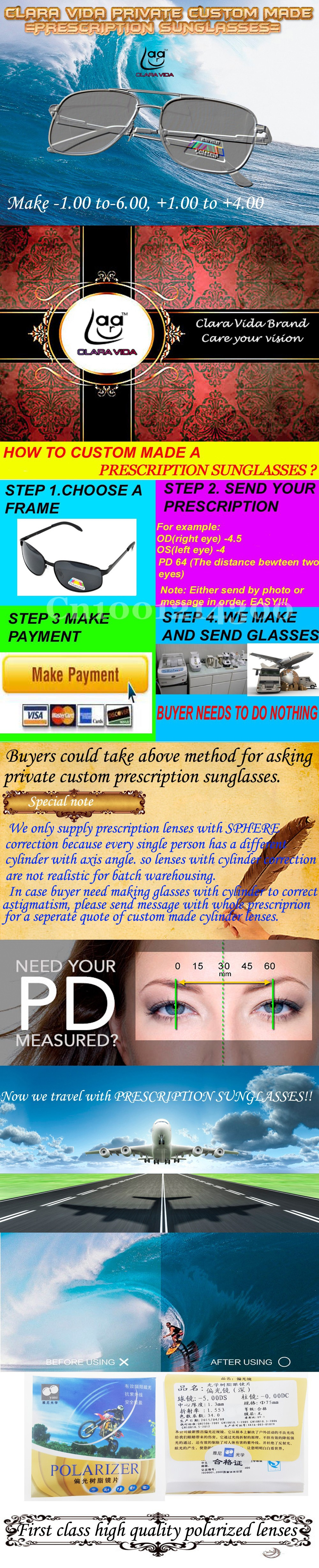 custom made prescription sunglasses