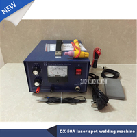 DX 50A Desktop Laser Spot Welding Hand Held Pulse Spot Welder Welding Machine Necklace Welding Machine