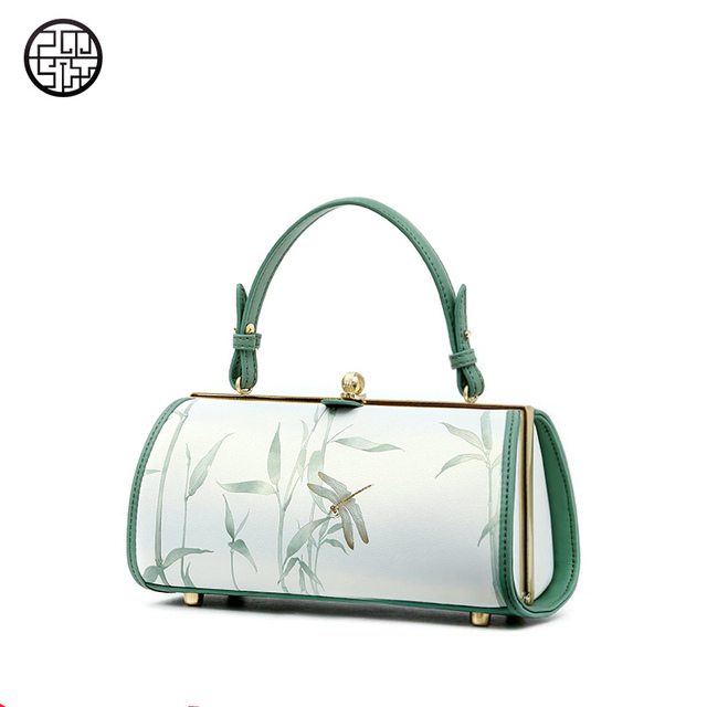 1ecfb8f4d5 Pmsix Frame Shoulder Bags Leather Chinese Style Lock Bags Handbags Women  Famous Brands Floral Designer Handbags High Quality
