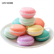 Mini Macarons earrings jewelry box / Bulk candy colored boxes for storage Wedding gifts cute gift(China)
