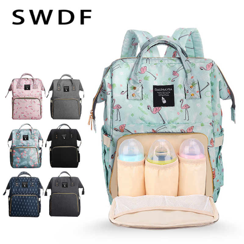 SWDF Multifunction Mummy Maternity Nappy Bag Brand Large Capacity Baby Bag Travel Backpack Designer Nursing Bag For Baby Care