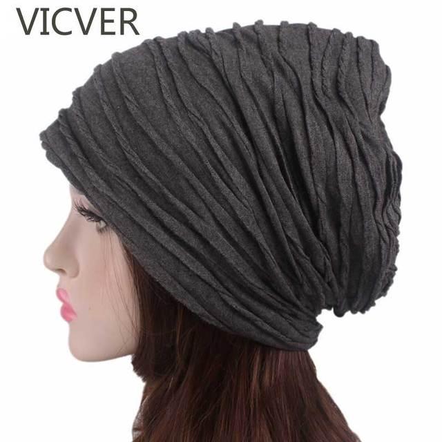 Women Slouchy Beanie Hat Winter Cap Men Baggy Caps Fashion Oversized  Crochet Hat Female Skullies Beanies 205feb607089