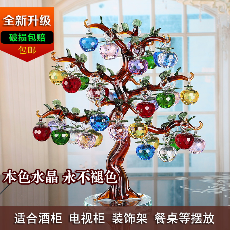 crystal apple rich tree living room tv christmas eve christmas decorations wedding wine home furnishing ornaments in stones from home garden on