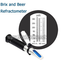 Beer Specific Gravity Scale and Brix Portable Refractometer TSG 100ATC