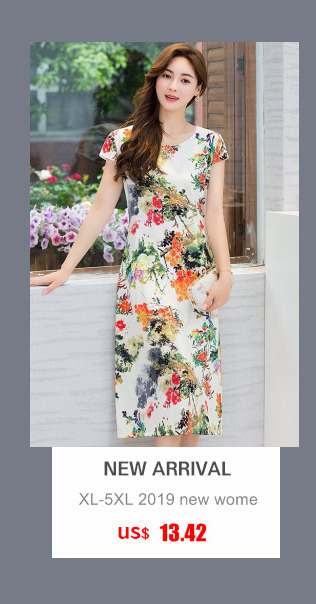 HTB1rqSzbyfrK1RjSspbq6A4pFXad Women Dress 2019 Summer Style Slim Tunic Milk Silk Print Floral Casual Plus Size Vestido Feminino Loose Dresses Clothes L 5XL