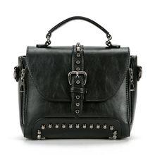 Crossbody Bags For Women Messenger Vintage Womens Leather Famous Brand Small Rivet Shoulder Bag 2019 New