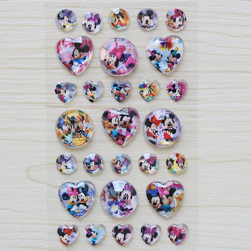 1 pieces / lot  Mickey elsa and Anna diamond 3D Stickers Micky Sophia Snow White Classic Toys for kids gift1 pieces / lot  Mickey elsa and Anna diamond 3D Stickers Micky Sophia Snow White Classic Toys for kids gift
