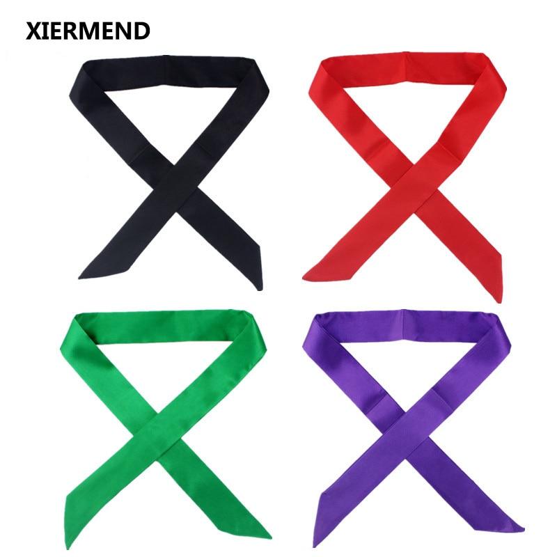 2019 Monochrome Slender Narrow Long Scarf Tied Bag Handle Scarves Small Ribbon Decorative Bag Led Towel Head Skinny Scarves