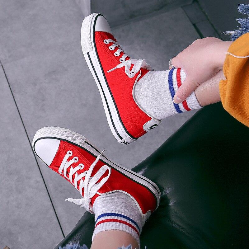 3ca1bb795af rouge Eva blanc Confortable Femme Pour Amortissement Toile Femmes forme  Noir Chaussures Casual Saison Semelles 15 ...