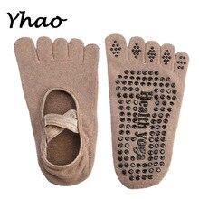 Four colors New 100% cotton Women's Halter stealth boat socks Yoga toe socks non slip tape professional pilates socks