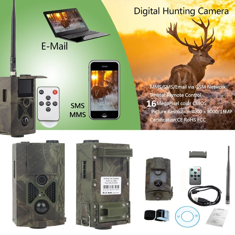 Hunting Camera HC 550M MMS 16MP 1080P Trail Hunting Camera 0 5s Trigger Photo Traps 120