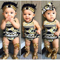 Recién Nacido los Bebés Boysuits Ropa Linda de la Muchacha Borlas Floral Body + Arco Diadema Kids Mono sunsuit Trajes 0-18 M