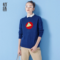Toyouth Christmas Sweater Women Autumn Embroidery Pattern O Neck Fashion Tricot Pullover Jumpers Pull Femme