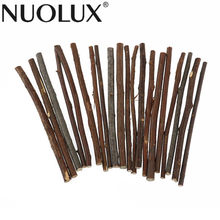 20pcs 10CM Long 0.3-0.5CM in Diameter Wood Log Sticks DIY Crafts Photo Props For Home Garden Wedding Party Table Decoration(China)