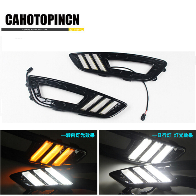 Turn Signal and dimming style Relay 12v LED Auto Car DRL daytime running light Bumper Front