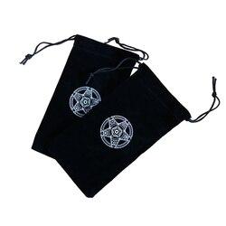1 шт. специальный бархат Таро сумка для визитных карточек шестиконечная звезда шаблон луч Pockemeon карты Dixit загрузки различные карточки для на...