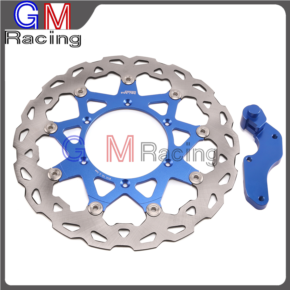 Motorcycle 320mm Floating Front Brake Disc Rotor Bracket For YAMAHA YZ125 YZ250 WR250 WR250F WR426F WR450F YZ250F YZ426F YZ450F