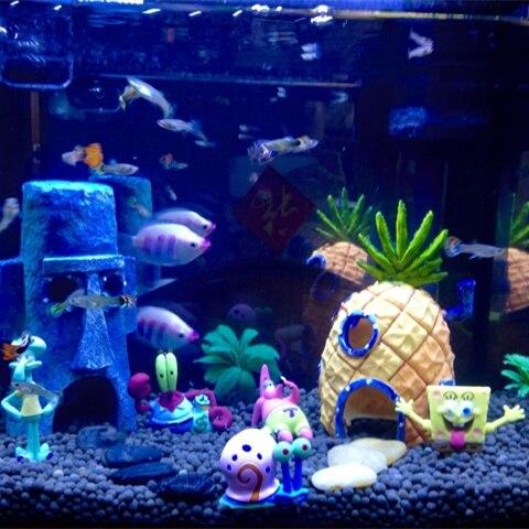 8 Unids Spongebob Squarepants Casas De Muñecas Y 3 Unids Mosquera