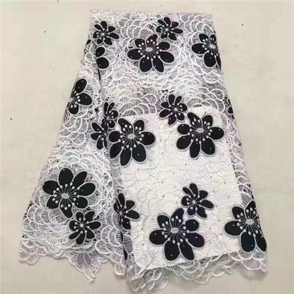 2019 웨딩 드레스에 대 한 돌을 가진 아프리카 코드 레이스 직물을 바느질을위한 고품질 새로운 도착 아프리카 guipure 레이스 직물-에서레이스부터 홈 & 가든 의  그룹 1