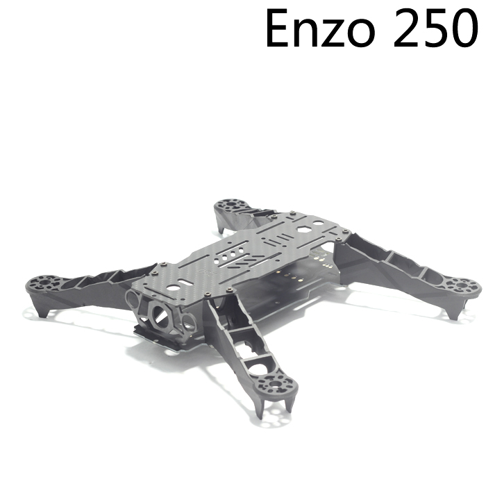 ENZO250 250mm ENZO330 330mm  4-Axis Carbon Fiber Mini 250 330 Quadcopter Frame Kit for RC Multicopter 250 mini 250 carbon fiber aircraft frame rtf kit with radiolink t6ehp e tx