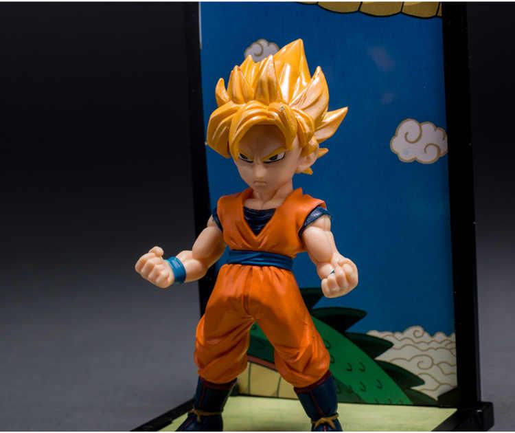 14cm alta qualidade 4 pçs/lote clássico Japonês figura anime Dragon ball Son Goku/Piccolo/Vegeta/Troncos figura de ação coleção