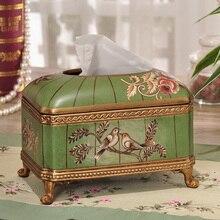 Американская пасторальная Керамическая Шкатулка Европейский ретро декор украшения домашнего интерьера гостиной журнальный столик коробка