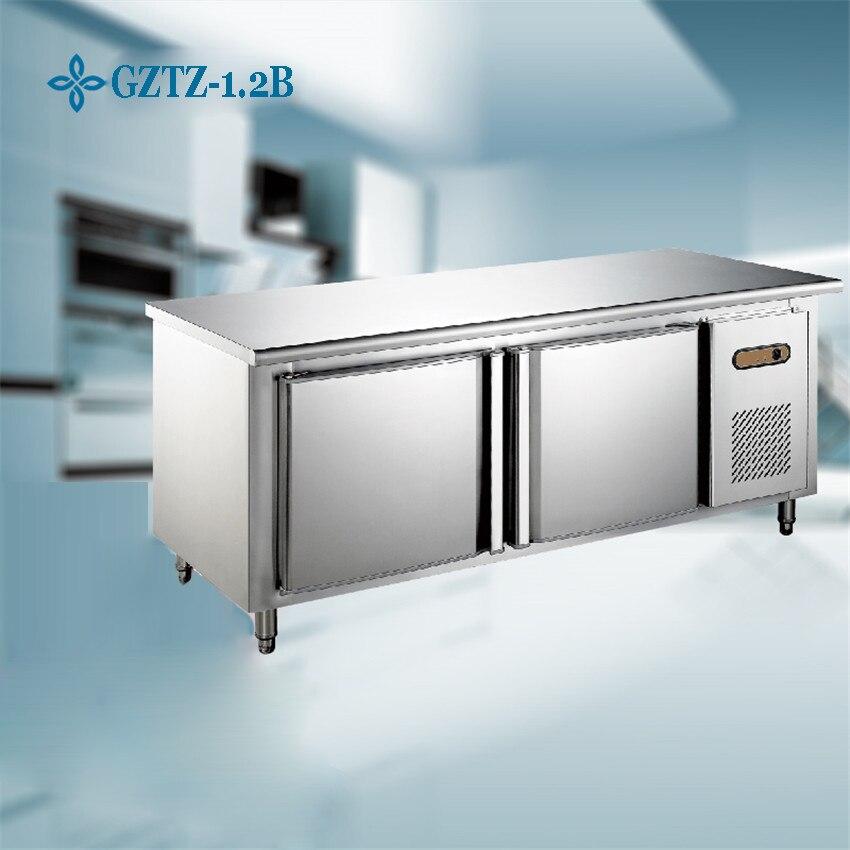 1PC Stainless Steel Kitchen Under-Counter Worktop Commercial Cabinet Refrigerator Freezer Cooler Storage <font><b>Fridge</b></font> Machine
