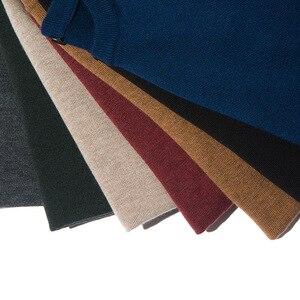 Image 5 - Мужской шерстяной Однотонный свитер с круглым вырезом, облегающий вязаный пуловер, Новинка осени 2019, 8 цветов, модная повседневная брендовая одежда