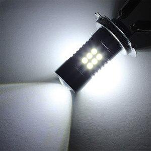 Image 5 - 2Pcs LED ערפל לרכב 12V DC H7 3030 21 LED אורות לבן 6500K רכב ערפל ראש אור מנורת פנס אור נורות עבור מכוניות