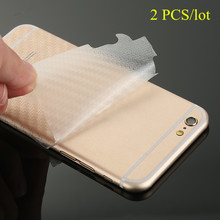 2pcs/lot Clear 3D Carbon Fiber Back Protector Film For iPhone X 7 8 PLUS 6 6S 5 5s Durable Film For iPhone XS MAX XR Cover Case(China)