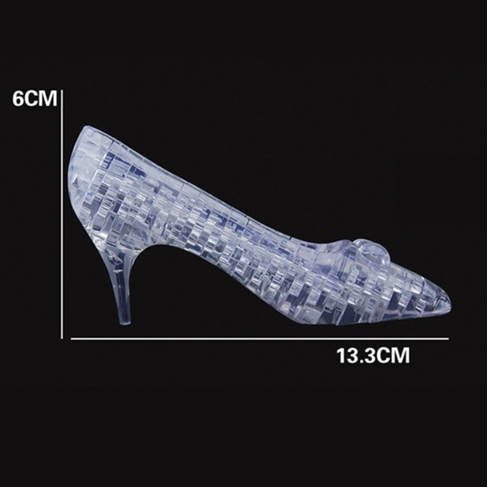 f44f2784fae Detail Feedback Questions about Fashion Puzzle Toy 3D Puzzle Jigsaw 44 pcs  Crystal High Heels Cinderella Shoe Slipper Clear White Assembly Children  Gift on ...