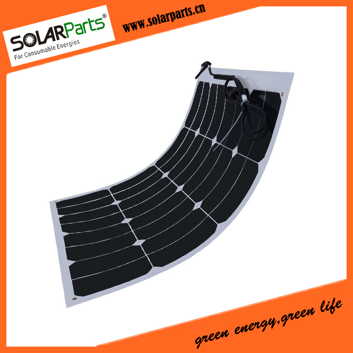 BOGUANG 50W high efficiency flexible solar panels bending solar modules for RV Boat HOME USE with junction box MC4 connector sp 36 120w 12v semi flexible monocrystalline solar panel waterproof high conversion efficiency for rv boat car 1 5m cable