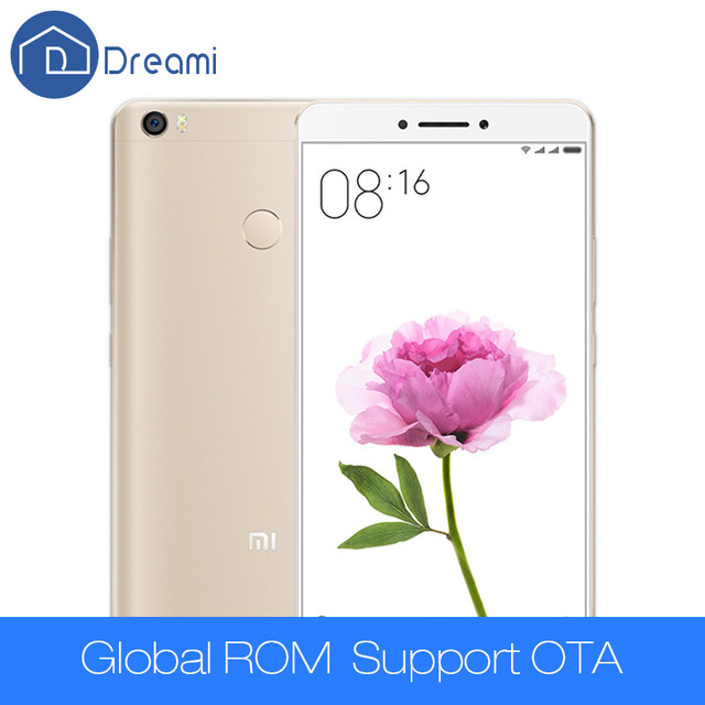 Dreami 원래 xiaomi mi max 프로 핸드폰 6.44 인치 mimax 3 기가바이트 RAM 64 기가바이트 ROM 스냅 드래곤 652 옥타 코어 4850 미리암페르하우어 PDAF 지문