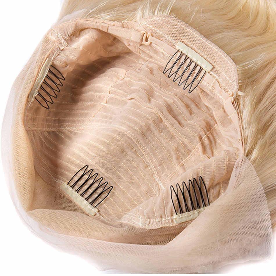 Perruque Lace Front Wig Body Wave brésilienne 613 | Cheveux naturels, blond miel platine russe, 10-26 pouces, 13x4/6 pouces