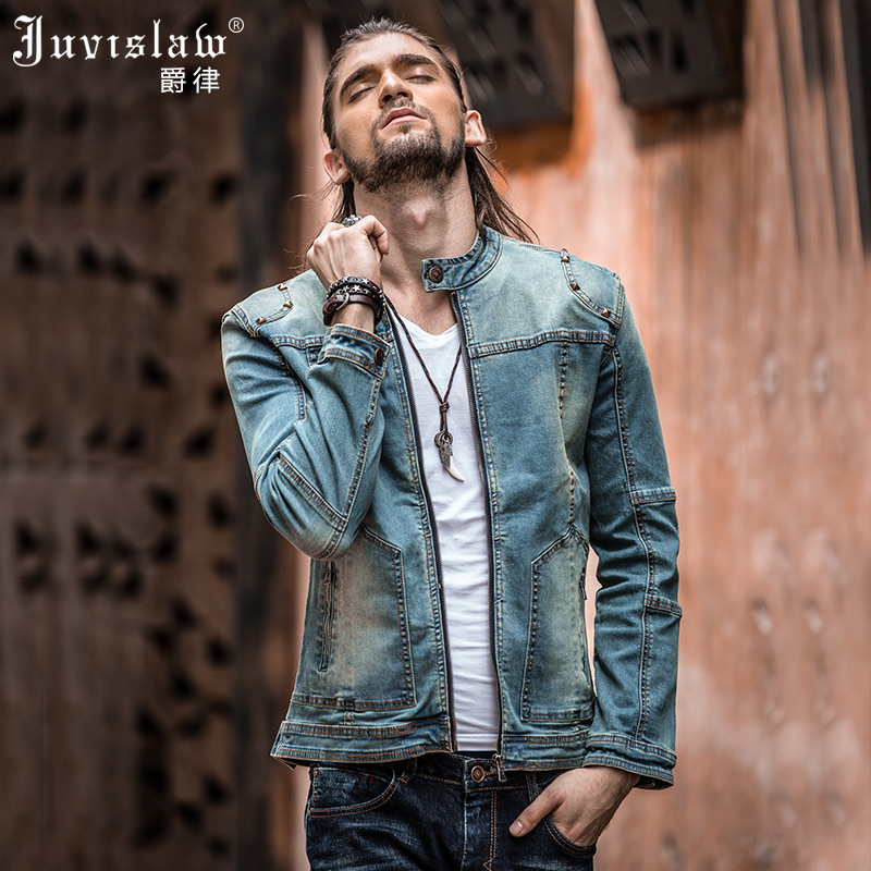 Vintage Mens Ripped Denim Jacket Brand Designer Fashion Washed Slim Fit Jean Jackets For Man Plus Size Jeans Clothing XXXL A817-in Jackets from Men's Clothing    2