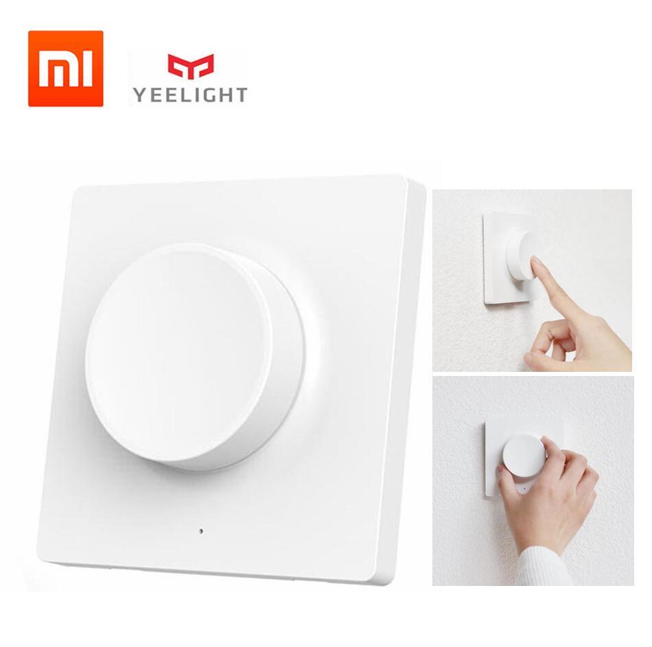 Xiaomi Mijia Yeelight Smart Dimmer Switch Intelligent Adjustment Wall Wireless Switch For Yeelight Ceiling Light LED Chandelier