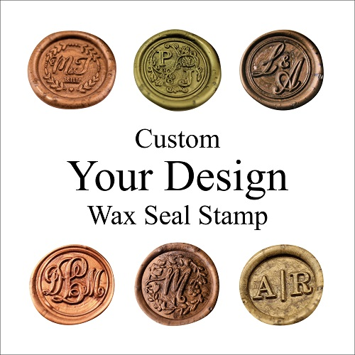 Custom Two Initials Wax Seal Stamp Custom Wax Seal Stamp Kit Wedding