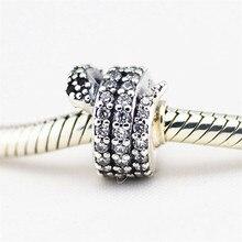 купить 100% 925 Sterling-Silver-Jewelry Sparkling Snake Silver Charm European Beads for Jewelry Making DIY Fits Bracelet Charms FL228 дешево