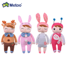 Genuine Metoo 8 styles Angela plush toys Lace Bunny Plush Rabbit Stuffed Kids Dolls with Gift Box for girl gift children toys