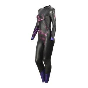 Image 3 - מוחלט געש נשים סגול 5MM SCS ארוך שרוול חליפת צלילה חליפת טריאתלון גלישה ימאמוטו Neoprene בגד ים