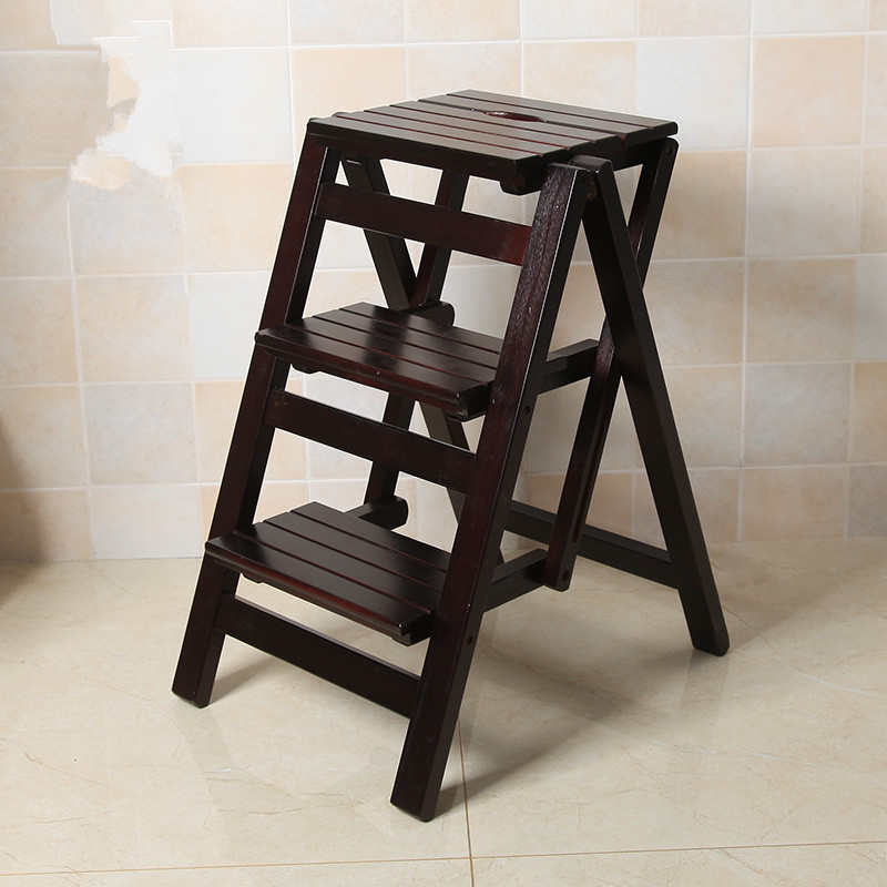 Gentil Multi Functional Ladder Stool Chair Bench Seat Wood Step Stool Folding 3  Tier For Any Task Around The Kitchen, Office, Bathroom In Living Room Chairs  From ...