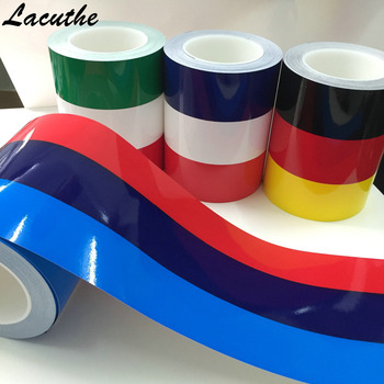 1M* 15CM M-Colored Germany Italy French Flag Striped Car Hood Vinyl Sticker Body Decal For BMW M3 M5 M6 E46 E92 Series image