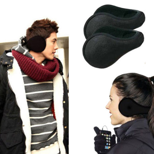 2017 Unisex Ear Muffs Winter Ear Warmers Fleece Earwarmer Mens Womens Good Quality Behind The Head Design Warm Earmuffs