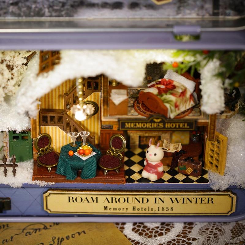 Namještaj DIY Kućica za lutke Wodden Miniatura Kućice za lutke - Lutke i pribor - Foto 4