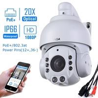 SUNBA 2.0 MP 1080P HD PoE+ 4.7~94.0mm 20X Optical Zoom IR Cut Night Vision PTZ Outdoor IP Security Dome Cameras ONVIF