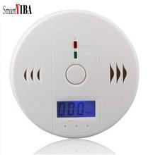SmartYIBA газовой сигнализации детектор внутренней безопасности 85 dBWarnin ЖК дисплей фотоэлектрический независимых CO газовый сенсор отравления угарным газом