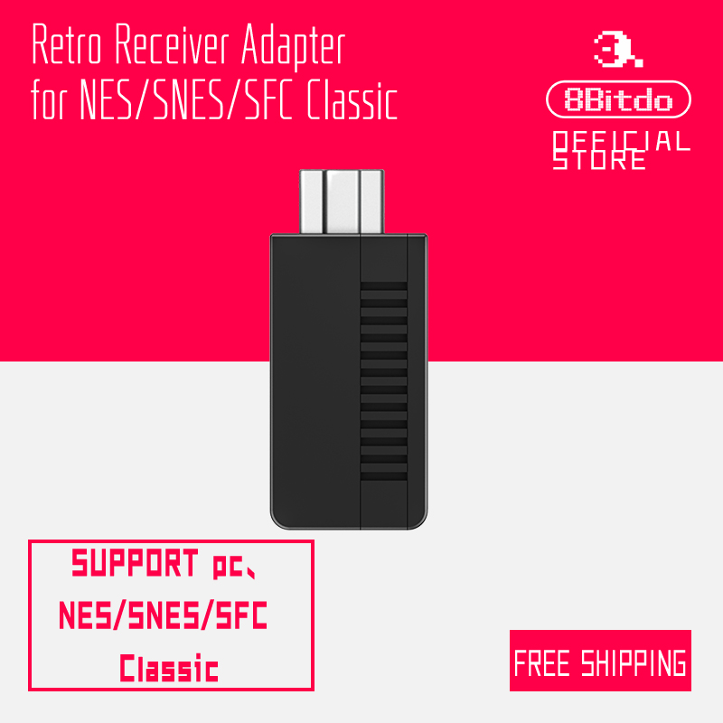 8Bitdo Retro Receiver for Mini NES SNES Classic Edition Bluetooth Adapter 83BB