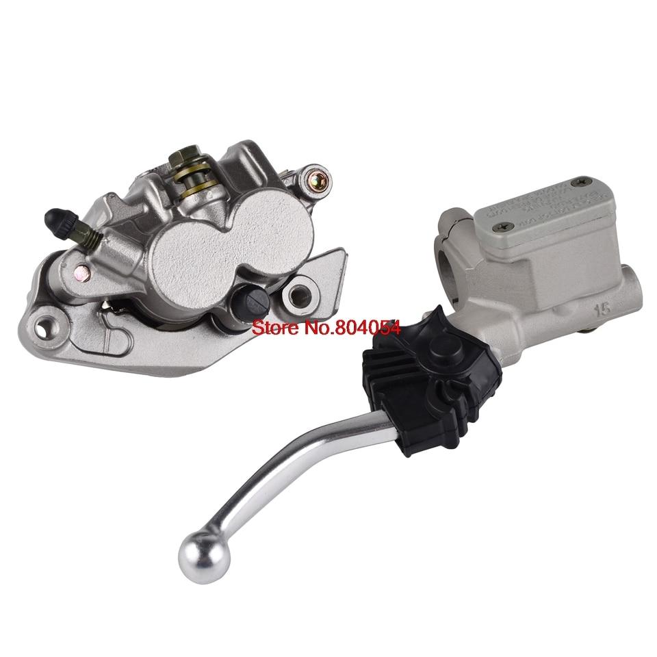 Front Master Cylinder Lever /& Brake Caliper Pad For Honda CR125R CR250R XR650L//R
