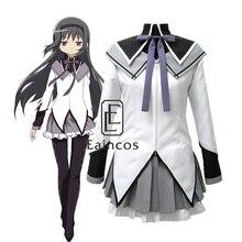 Anime Puella Magi Madoka Magica Akemi Homura Uniform Cosplay