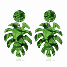 ECODAY Geometric Leaf Acrylic Earrings for Women Drop Pendientes Mujer Brincos Oorbellen Earings Fashion Jewelry